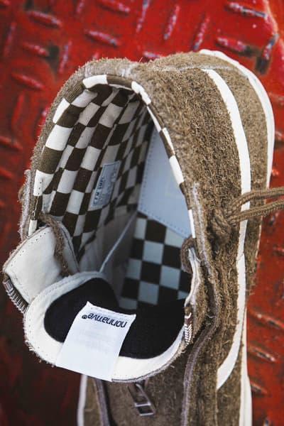 nonnative x Vans Sk8-Hi 2017 Fall Winter Sneaker Collaboration zipper checkerboard japan suede