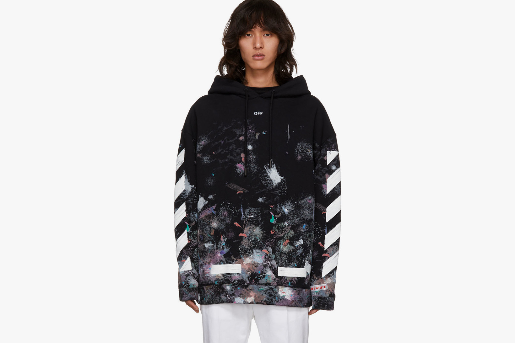 off white galaxy tee sizing
