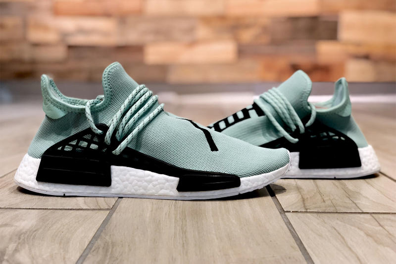Rare Pharrell Williams adidas Originals Hu NMD Mint Green Sample Soled Out Jersey City New Jersey NJ