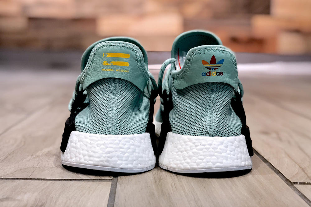 Rare Pharrell Williams adidas Originals Hu NMD Mint Green Sample Soled Out Jersey City New Jersey NJ