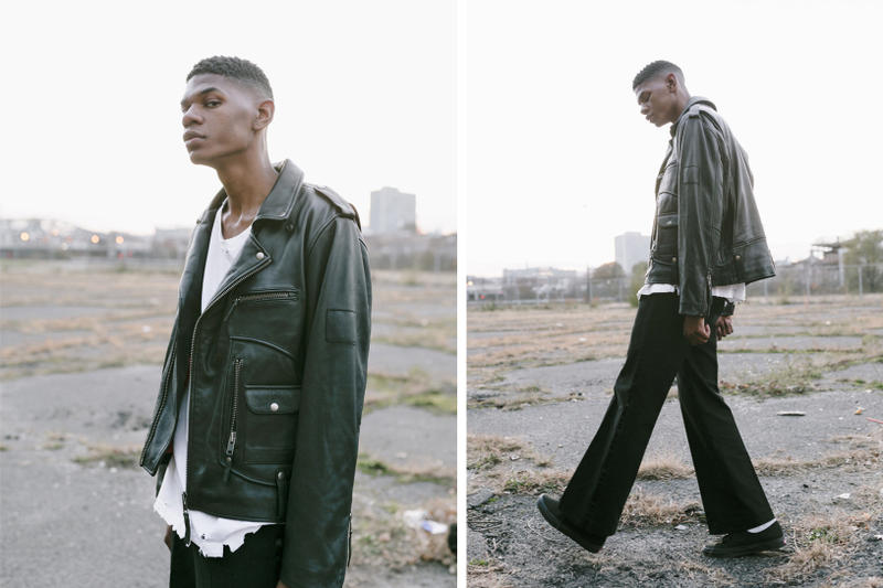 Profound Aesthetic Fall Winter 2017 Collection Lookbook Flight Jacket Bomber Faux Fur Leather
