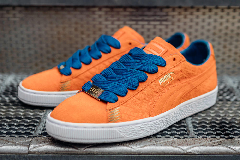 PUMA Suede 50 Breakdance Cities Pack Blue Red White Orange New York Berlin Seoul Paris Classic Sneaker Shoe Drop 2018 January 4