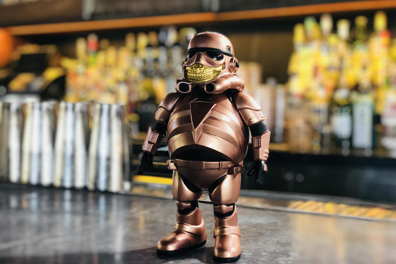 Ron English Police Grin Rose Gold Star Wars Stormtrooper Collectible Vinyl Figure Toy Tokyo