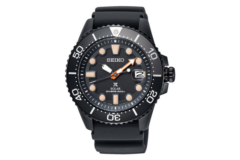 Seiko Prospex Black Series Diving Watches chronograph sea water solar driving system japan watch