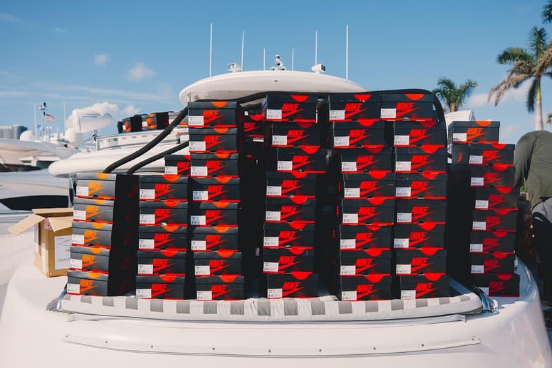 Social Status Air Jordan 1 Rust Pink Igloo Yacht Pop-up Release Art Basel Miami