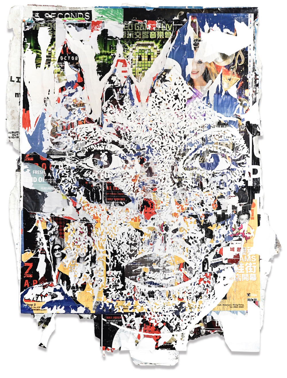 Sotheby's Hong Kong Contemporary Art Foundation HOCA Invader Shepard Fairey Obey Giant Alexandre Farto Vhils Anthony Lister Jose Parla