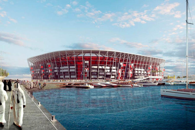 FIFA World Cup 2022 Qatar Stadium Shipping Containers