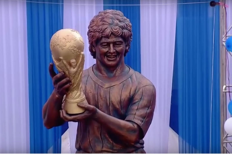Diego Maradona Statue India Soccer Football
