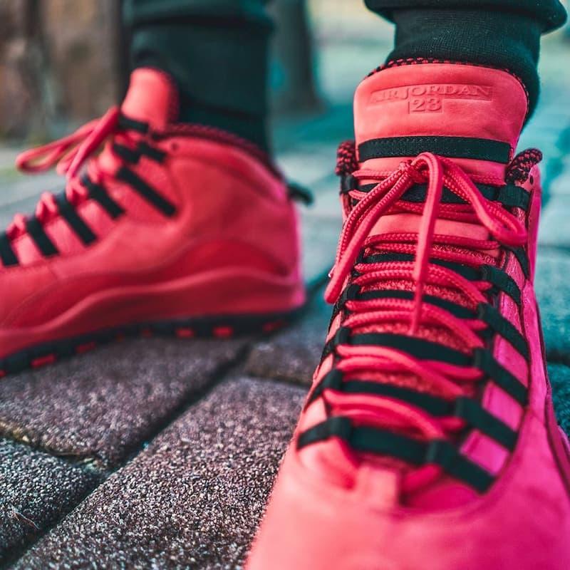 6e067b2508ce Steve Wiebe Designs Air Jordan 10 university red black House of Hoops HOH  foot locker Sneakers