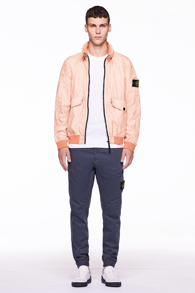 Stone Island Carlo Rivetti Marina Spring Summer 2018 Lookbook Outerwear Jackets Vests Pants