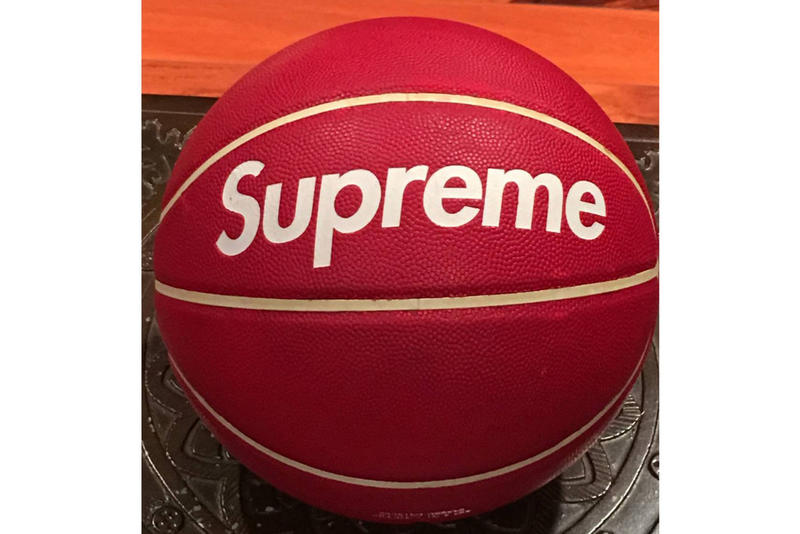 Supreme Spalding Basketball Grailed 1996 Collaboration Red Collector Item