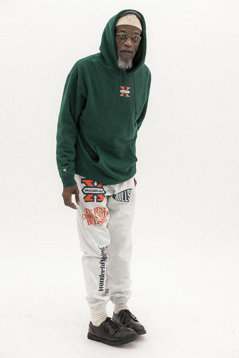 Madbury Club Wonderful Nothing Holiday Lookbook 2017 Outerwear Jackets Sweatpants Phillip Annand M A Butcher
