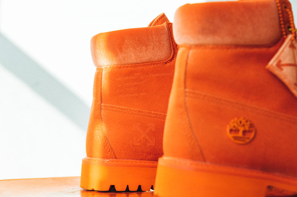 Close Look At The Off-White™ x Timberland Boots Collaboration drop release date 8 march 2018 Neon Green Orange 6 inch hang tag zip tie