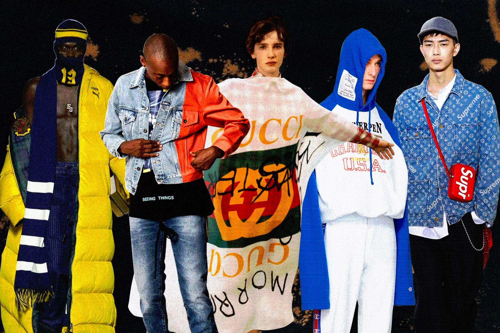 """ストリートとラグジュアリーを共存に導いた""""現代ファッションシーンの象徴的文化""""をプレイバック MARTINE ROSE X NAPAPIJRI 2017年のベストファッションコラボレーション TOP 10 SUPREME X LOUIS VUITTON シュプリーム ルイヴィトン  COCO CAPITÁN X GUCCI グッチ  JUNYA WATANABE MAN X THE NORTH FACE ジュンヤ ワタナベ ノースフェイス  J.W. ANDERSON X UNIQLO ユニクロ FENTY X PUMA プーマ  リアーナ  PORNHUB X RICHARDSON ポルノハブ リチャードソン VETEMENTS X CHAMPION ヴェトモン チャンピオン OFF-WHITE™ C/O VIRGIL ABLOH X LEVI'S MADE & CRAFTED オフホワイト ヴァージル アブロー GOSHA RUBCHINSKIY X ADIDAS FOOTBALL ゴーシャ ラブチンスキー アディダス HYPEBEAST ハイプビースト"""