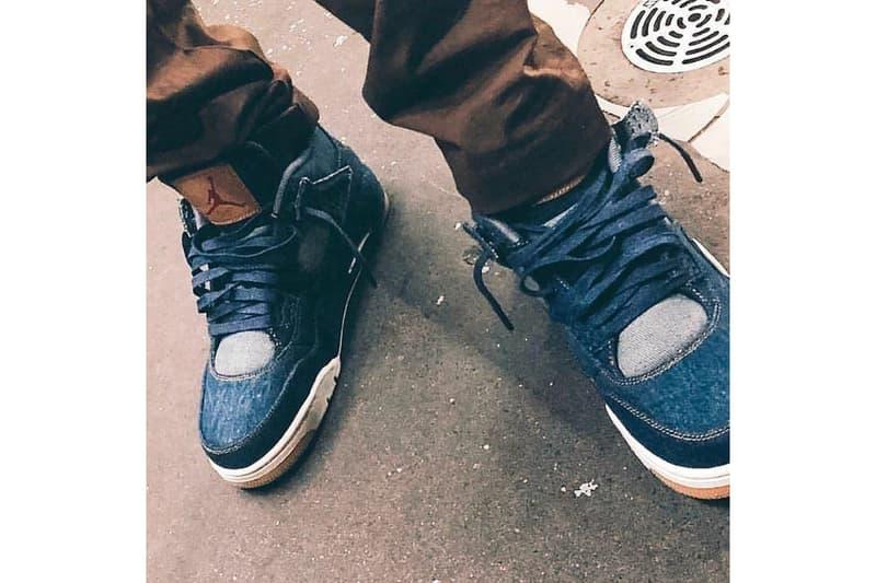 add8d7718dbe8d Travis Scott Cactus Jack Records Levi s Air Jordan 4 Denim Jordan Brand  2018 Release