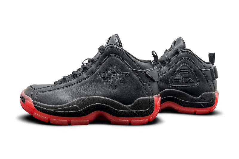 FILA 96GL All Eyez on Me Tupac Shakur 2Pac Black Red 2017 December Release Date Info Sneakers Shoes Footwear Retro Reissue Grant Hill