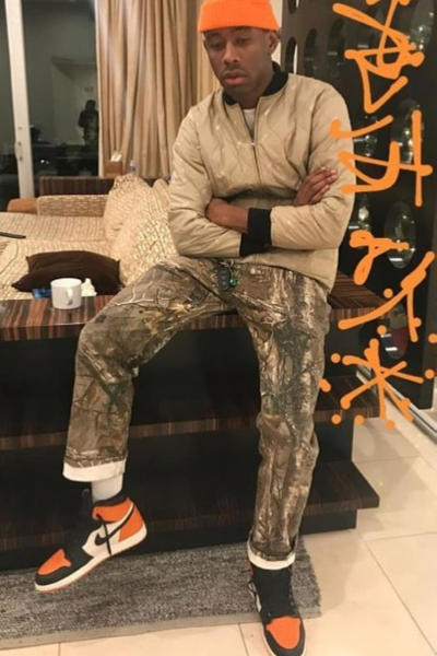 Tyler, The Creator Air Jordan 1 Shattered Backboard Twiiter