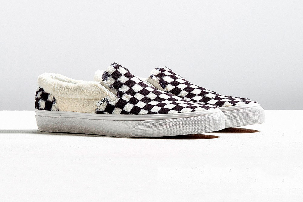 Vans Sherpa Fleece Checkerboard Slip-On
