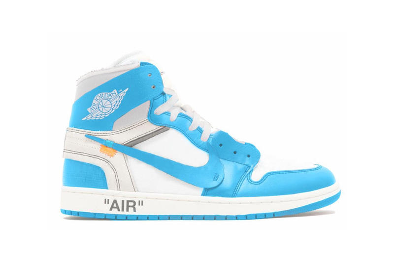 sports shoes d3a54 84f7a Virgil Abloh Off White Nike Air Jordan 1 JB 2018 University Blue White  Drops Rumor Release