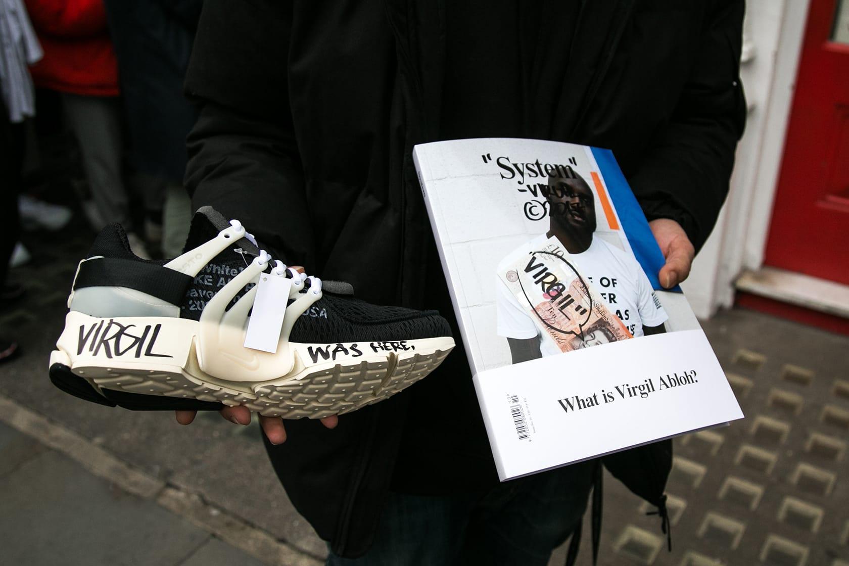 Virgil Abloh London Signing Streetsnaps