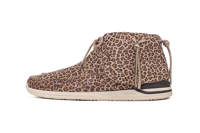 visvim FBT LHAMO-FOLK LEOPARD print moccasin sneaker shoe braided drop release boot chukka