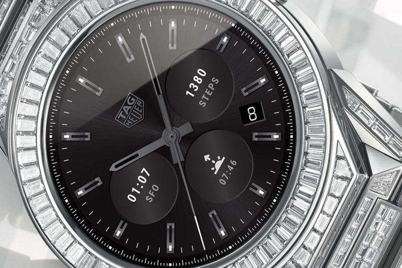 TAG Heuer 589 Diamonds Connected Modular 45 Watch $197,000 23.35 carats Watches Timepieces
