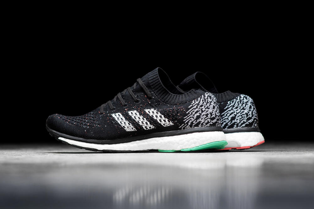 adidas Reintroduces adizero Prime Knit BOOST LTD Black Green Pink White Accents Mens Shoes Sneakers Performance Running Training Work-out Endurance