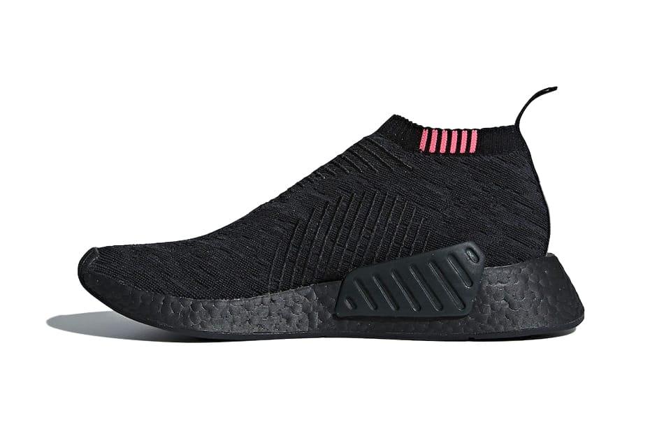 "adidas NMD CS2 ""Triple Black"" With Pink"