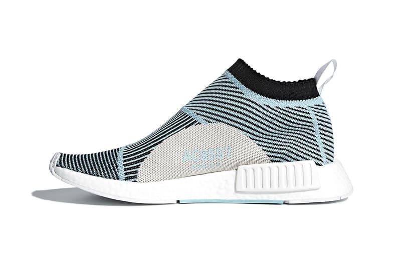 adidas Originals & Parley Unveil NMD City Sock sneaker soles new street mens kicks light blue primeknit