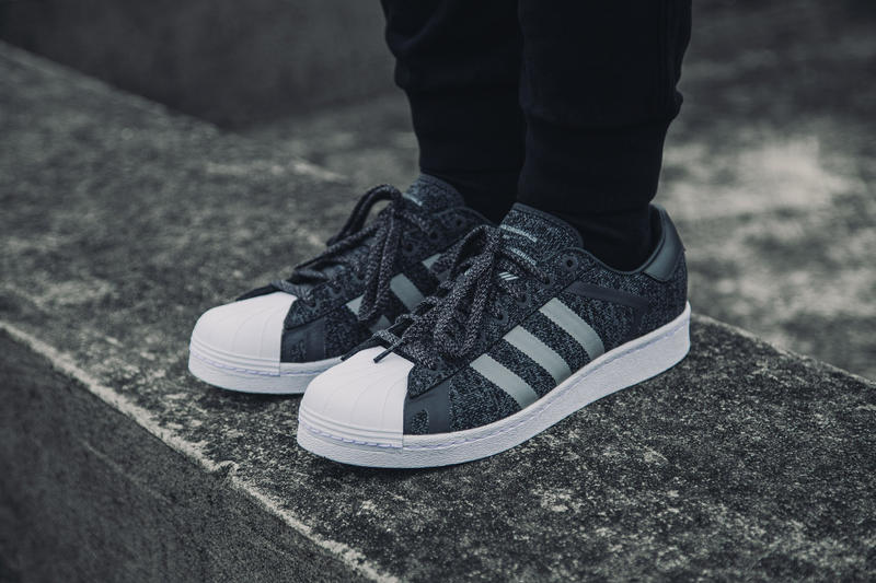 adidas Originals White Mountaineering Superstar Shoes 2018 January Drop Release date HBX collaboration primeknit
