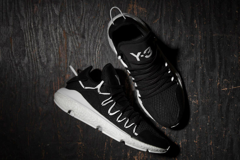 adidas Y 3 Kusari Core Black Yohji Yamamoto Black White Sneakers Runners  Release Info Date Drops fc544ba5c