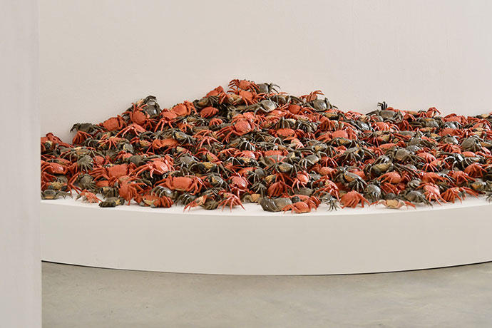 """Ai Weiwei """"Inoculation"""" Exhibition Buenos Aires Fundacion PROA Sunflower Seeds Forever Bicycles He Xie"""