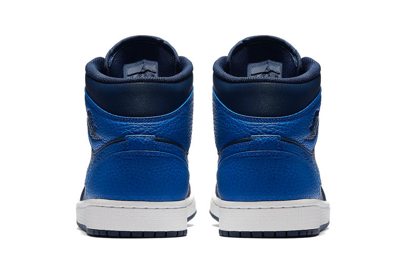 Air Jordan 1 Mid Royal Blue Obsidian Jordan Brand