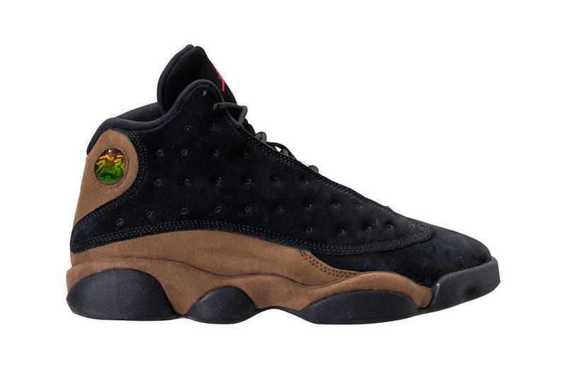 Air Jordan 13 Black Olive Suede January 20 2018 Release