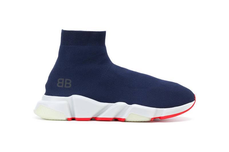 Balenciaga Speed Trainer Low Blue White Red 2018 January Release Date Info Sneakers Shoes Footwear Farfetch