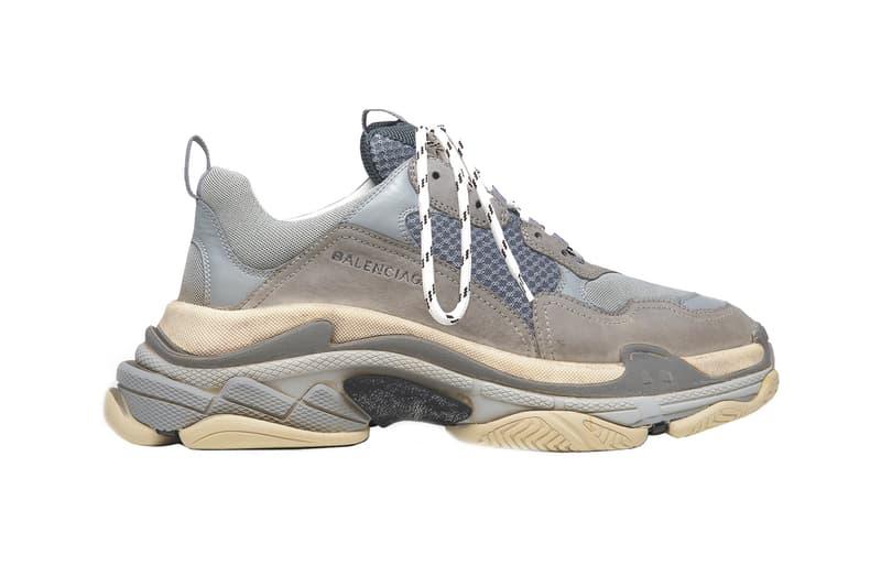 Balenciaga Triple S Sneaker Distressed Grey Restock