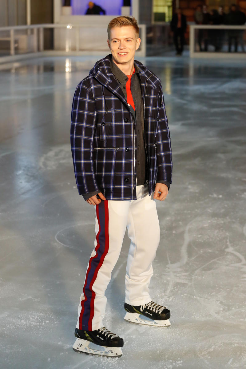 Band of Outsiders 2018 Fall Winter Collection Runway Ice Skating Rink london fashion week london fashion week mens lfwm