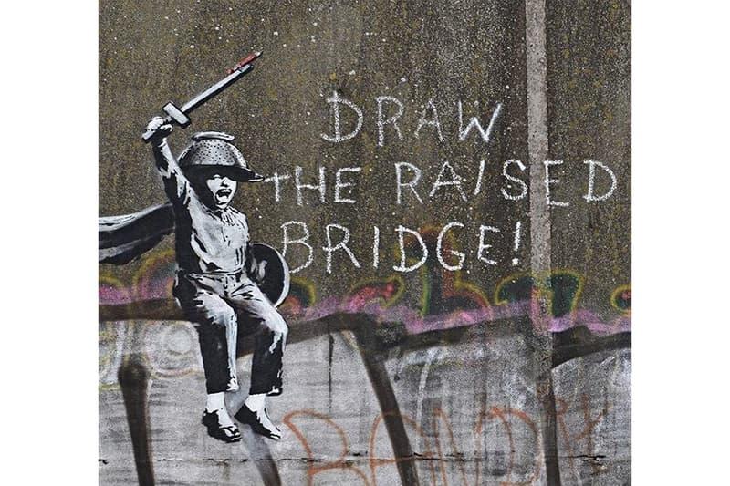 Banksy Kingston upon Hull Art Artwork Stencil Mural Draw The Raised Bridge