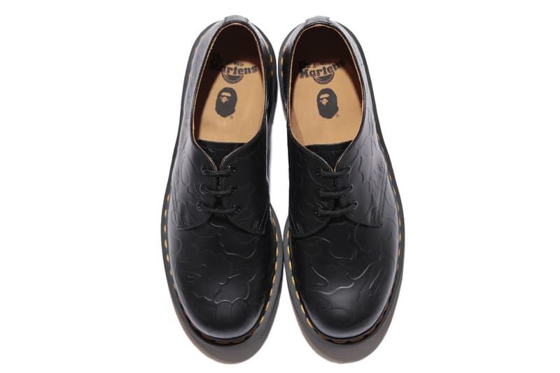 BAPE A Bathing Ape Dr. Martens leather shoes eight eye boot three eye shoes tee shirt totes camo ape head