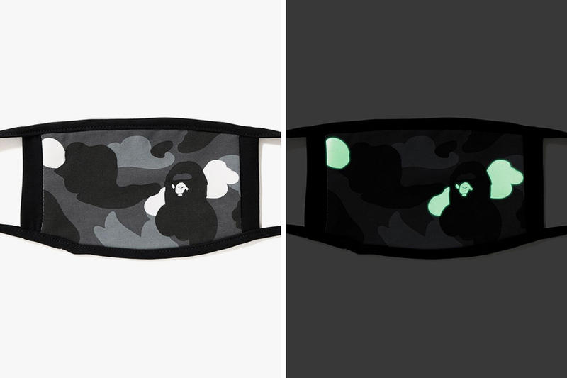 BAPE A Bathing Ape Glow-In-The-Dark Camo Masks