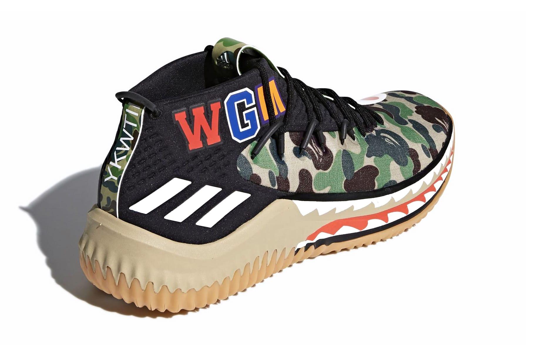 BAPE x adidas Dame 4 in Green \u0026 Black