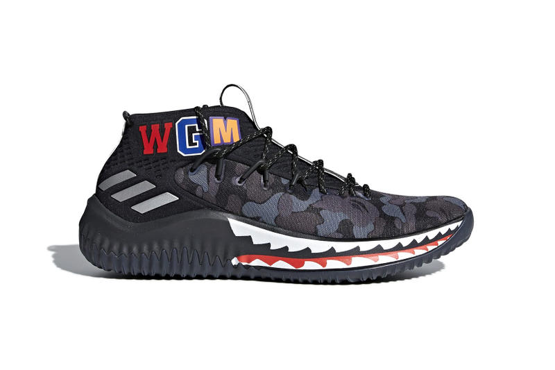 BAPE adidas Dame 4 Green Black Camo Camouflage 2018 Release Date Info Sneakers Shoes Footwear
