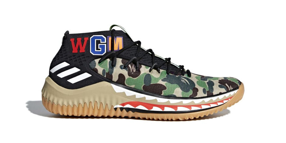 official photos 35329 d9861 BAPE x adidas Dame 4 in Green  Black Camo  HYPEBEAST