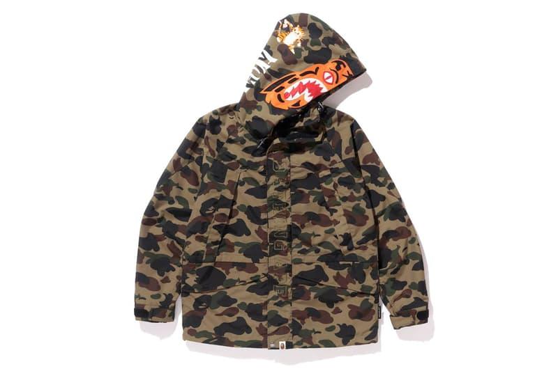 Bape Camo Tiger Snowboard Jacket Release Date January 20 2018 Sports Snowboarding Jacket 1st camo