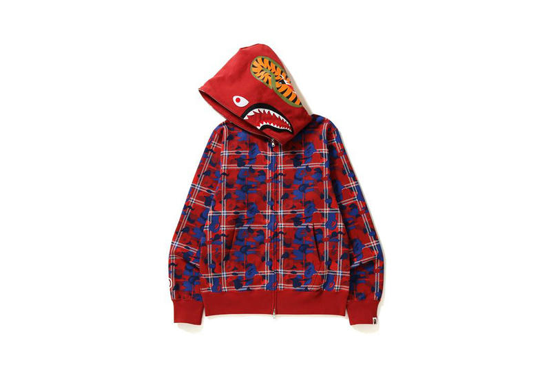 BAPE Shark Hoodie Check Camo Camouflage Release Details Information