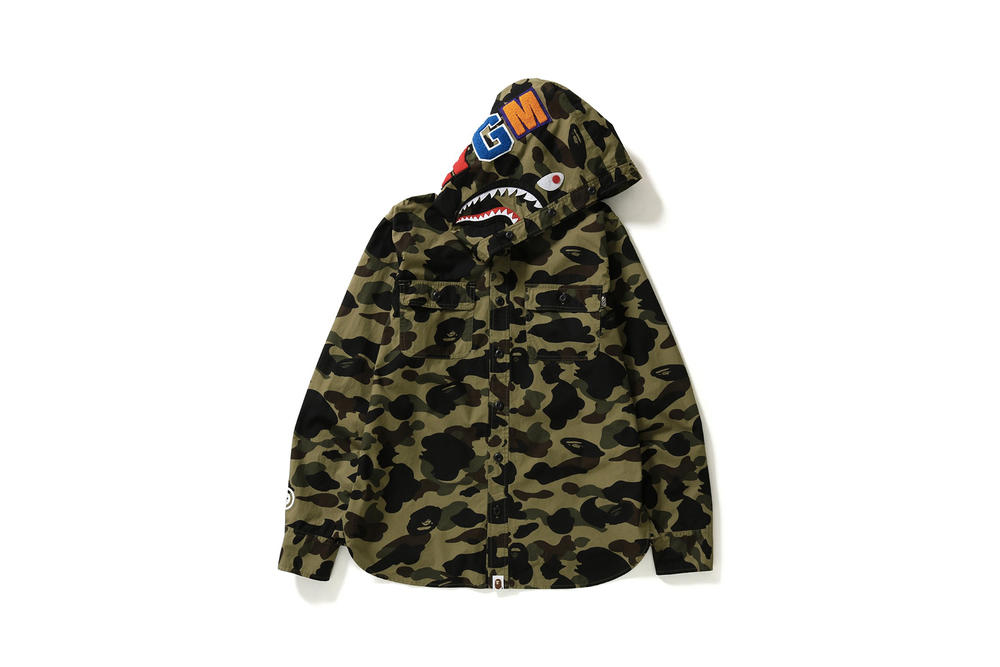 BAPE Hooded Camouflage Shirt Dr. Martens Shark Hoodie 1st Camo