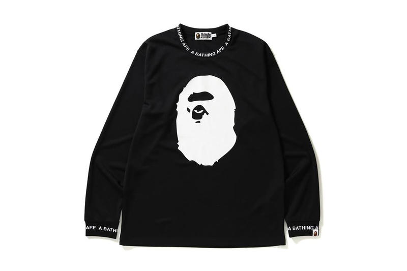 1f8db5a513e0 BAPE Spring Summer 2018 Logo Rib Long Sleeve T Shirt Black White Tee  January 27 Release. 1 of 2. A Bathing Ape