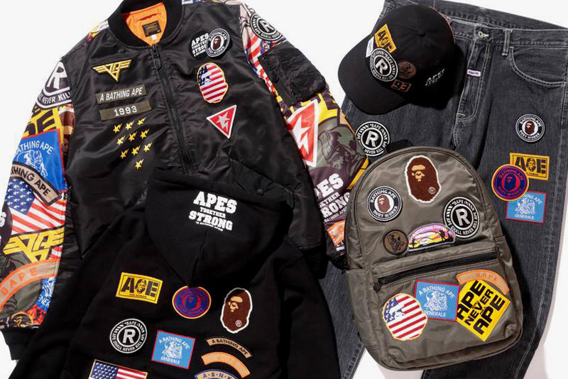 1c6e1a0a BAPE Spring Summer 2018 Patched Drop Capsule Collection A Bathing Ape 2018  January February Release Date