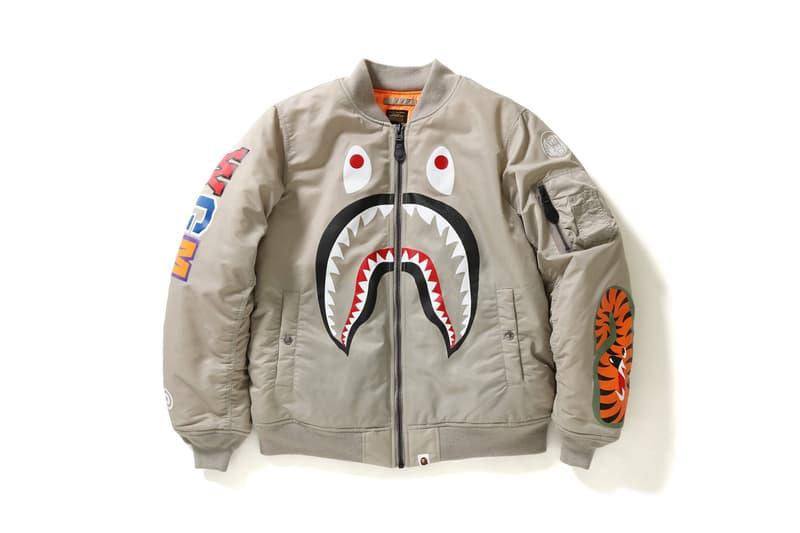 BAPE A Bathing Ape Outerwear Flight Jacket Military Streetwear Fashion MA1 2018 January 27 Release Date Info