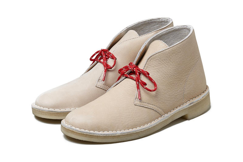 BEDWIN & and THE HEARTBREAKERS Clarks Desert Boot Collaboration 2018 march 28 limited 150 Spring Summer Tan Leather Release Date Info Footwear red laces